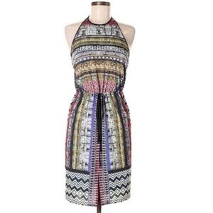 Clover Canyon mixed print low back halter dress